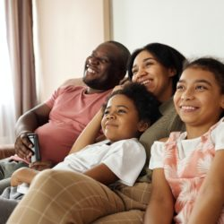 a family enjoying the benefits of owning a home